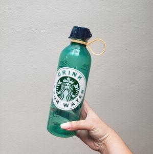 Starbucks water bottle custom water intake log